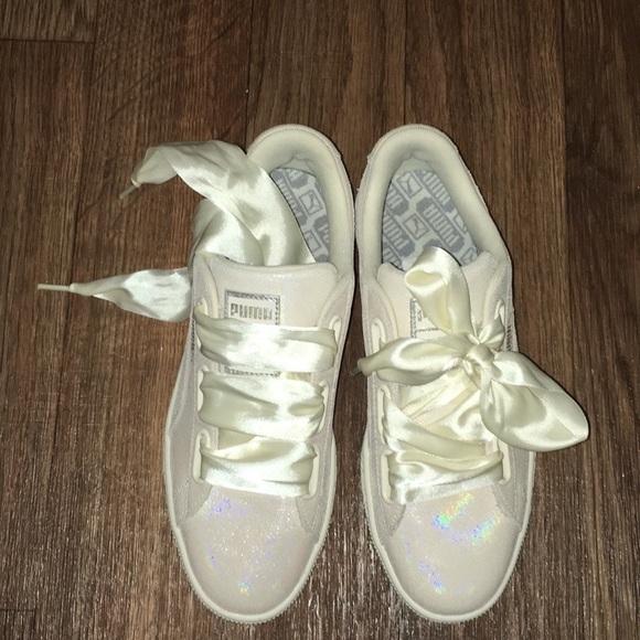 Puma Iridescent white sneakers